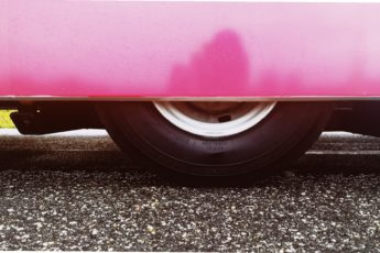 autobus, różowe