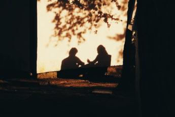 cień, miłość, para